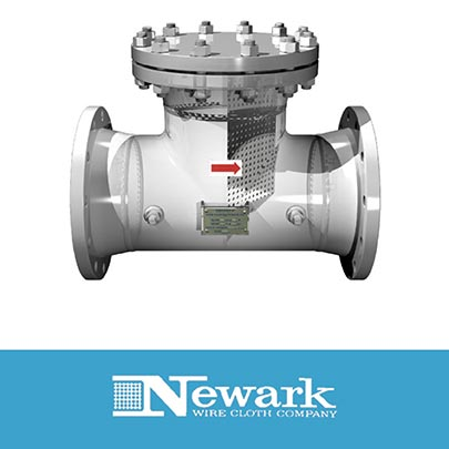 Newark Wire Cloth Develops Tee Strainer for Major Pharmaceutical Application