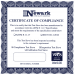 Certificate of complains