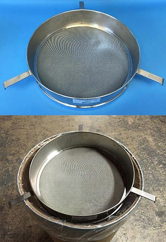 Test Sieve with 3 brackets