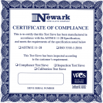 Test Sieves Standard-Certificate of complains