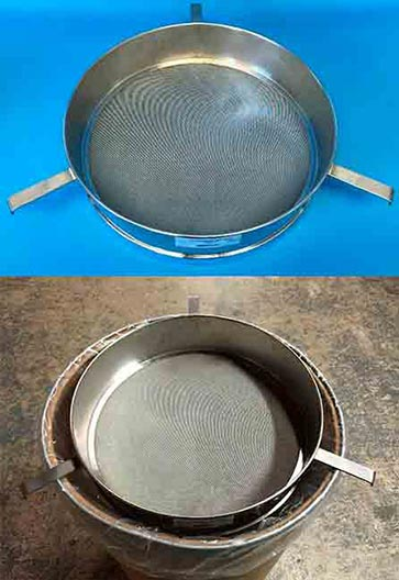 18″ dia. Test Sieve with (3) brackets
