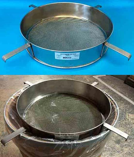 18″ dia. Test Sieve with (4) brackets